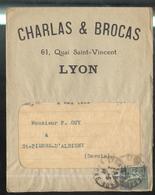 Marcophilie - Enveloppe Charlas & Brocas - 1919 - Marcophilie (Lettres)