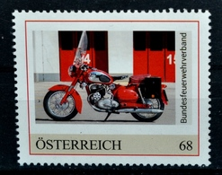 Pi630 Puch 250 SGS Motorrad, Motorcycle, Moto, Feuerwehr, Fire Brigade, AT 18 ** - Österreich