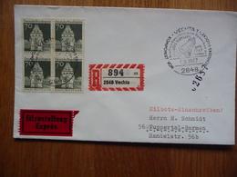 (S) DEUTSCHE BUNDESPOST DUITSLAND REGISTRED COVER 1967  SONDERSTEMPEL  MIXED FRANKING - Lettres & Documents