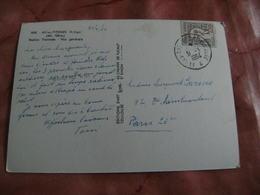 Aix Les Thermes A Toulouse A Cachet Ambulant Convoyeur Poste Ferroviaire Sur Lettre - Marcophilie (Lettres)