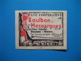 (1947) Cave Coopérative De BOULBON-MEZOARGUES (Bouches-du-Rhône) - Vieux Papiers