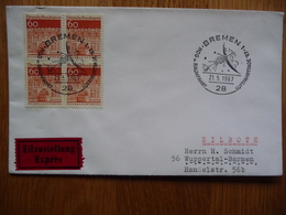 (S) DEUTSCHE BUNDESPOST DUITSLAND REGISTRED COVER 1967  SONDERSTEMPEL - Lettres & Documents