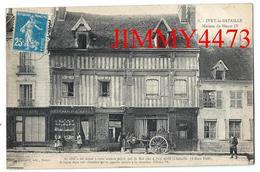 CPA - Maison De Henri IV, Rue Bien Animée En 1921, Attelage - IVRY LA BATAILLE 27 Eure - N° 6 - Edit. Ch. Foucault - Ivry-la-Bataille