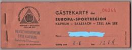 Kaprun Saalbach Zell Am See - Block Gästekarte Mit Coupons Siehe Beschreibung - Eintrittskarten