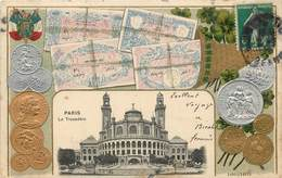 PARIS - Le Trocadéro ,représentation De Pièces,monnaies,billets. - Monnaies (représentations)