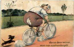 Humor - Radfahrer Hund - Humor