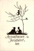 Renaisance Junifahrt 1914 - Abinz - Scherenschnitt - Silhouette