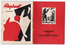 Paris : Programme Comédie Des Champs Elysées : Ornifle Av Pierre Brasseur, L De Funès , Jacqueline Maillan Etc (PPP9987) - Programmi