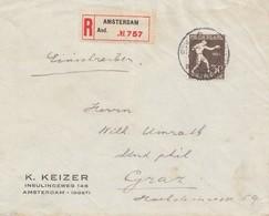 Niederlande: 1923: Einschreiben Amsterdam Nach Graz - Netherlands