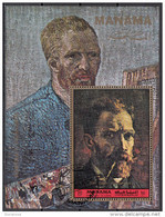 "Manama 1972 Mi. Bf. 380A ""Autoritratto Mentre Fuma La Pipa"" - Quadro Dipinto Da V. Van Gogh - Painting - Künste"