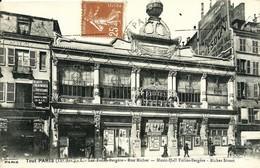 CPA Serie TOUT PARIS , Les FOLIES BERGERE Rue Richer , Affiches De Spectacles En Façade - Lotes Y Colecciones