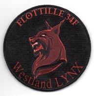 AERONAVALE Patch Flottille 34F WESTLAND LYNX - Ecussons Tissu