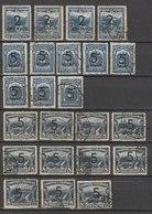 MiNr. 385 - 387  Kolumbien 1937/38. Freimarken. MiNr. 299, 324, 377 Und 378 Mit Aufdruck Des Neuen Wertes. - Kolumbien