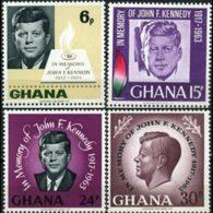 GHANA 1965 - Scott# 236-9 Pres.Kennedy Set Of 4 LH - Ghana (1957-...)
