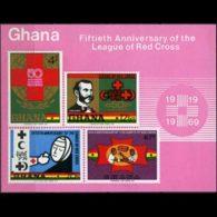 GHANA 1970 - Scott# 381a S/S Red Cross 50th. MNH - Ghana (1957-...)
