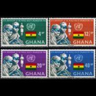 GHANA 1968 - Scott# 336-9 WHO 20th. Set Of 4 LH - Ghana (1957-...)
