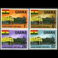 GHANA 1963 - Scott# 156-9 Railroads 60th. Set Of 4 LH - Ghana (1957-...)
