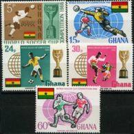 GHANA 1966 - Scott# 259-63 W.Cup Soccer Set Of 5 LH - Ghana (1957-...)