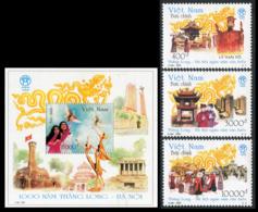 SOUTH VIETNAM 2000  YT N° 1929-1931 +BF 108 **  Mi# 3108-3111 + Block 128 MNH - Viêt-Nam