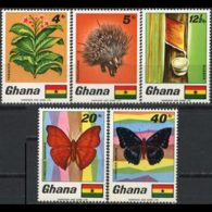 GHANA 1968 - Scott# 331-5 Fauna Etc. Set Of 5 LH - Ghana (1957-...)