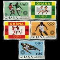 GHANA 1972 - Scott# 454-8 Olympics Set Of 5 LH - Ghana (1957-...)