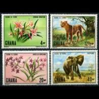 GHANA 1970 - Scott# 402-5 Wildlife Set Of 4 LH - Ghana (1957-...)