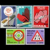 GHANA 1974 - Scott# 530-4 Right Driving Set Of 5 LH - Ghana (1957-...)