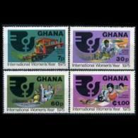 GHANA 1975 - Scott# 554-7 Intl.Women Year Set Of 4 LH - Ghana (1957-...)