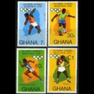 GHANA 1976 - Scott# 583-6 Olympics Set Of 4 LH - Ghana (1957-...)