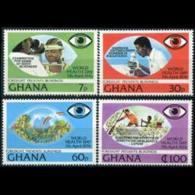 GHANA 1976 - Scott# 592-5 Health Day Set Of 4 LH - Ghana (1957-...)