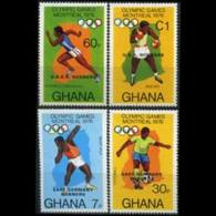 GHANA 1977 - Scott# 606-9 Olympics Winners Set Of 4 LH - Ghana (1957-...)