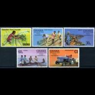 GHANA 1978 - Scott# 645-9 Feed Yourself Set Of 5 LH - Ghana (1957-...)