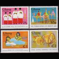GHANA 1979 - Scott# 698a-d Christmas Set Of 4 MNH - Ghana (1957-...)