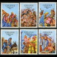 GHANA 1984 - Scott# 951-6 Christmas Set Of 6 MNH - Ghana (1957-...)