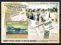 Cuba 2009 / 70 Years Postal Rocket MNH 70 Aniversario Cohete Postal / Cu10103  22 - Correo Postal