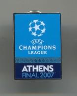 FOOTBALL / SOCCER / FUTBOL / CALCIO - UEFA CHAMPIONS LEAGUE 2007 Final ATHENS, AC MILANO Vs LIVERPOOL FC, Enamel Badge - Football
