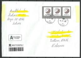 LETTLAND Latvia 2018 Registered Letter To Estonia - Latvia