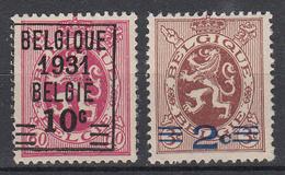BELGIË - OBP - 1931 - Nr 315/16 - (*)/ MH* - Neufs