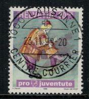 Suisse // Schweiz // Switzerland // Pro-Juventute // 1999  Nicolo Dans Les Bras De Son Père Oblitéré No.354 - Pro Juventute