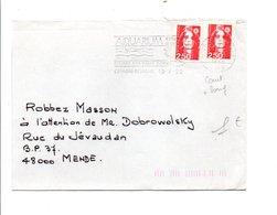 FLAMME AQUARIUM DE CESSON SEVIGNE ILLE ET VILAINE 1992 - Postmark Collection (Covers)
