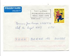 FLAMME PUCES DE REIMS MARNE 2004 - Postmark Collection (Covers)