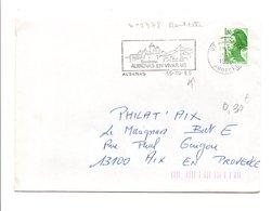 FLAMME AUBENAS EN VIVARAIS ARDECHE 1985 - Postmark Collection (Covers)