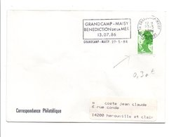 FLAMME BENEDICTION DE LA MER à GRANDCAMP-MAISY CALVADOS 1986 - Postmark Collection (Covers)