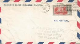 Barbados 1955 Bridgetown Guard Garrison Cover - Barbados (1966-...)