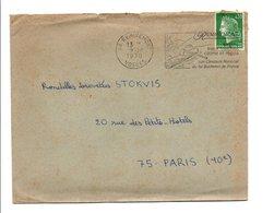 FLAMME CONCOURS NATIONAL 1 ER BUCHERON DE FRANCE à REMIREMONT VOSGES 1970 - Postmark Collection (Covers)