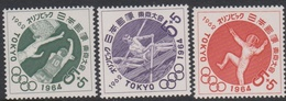 Japan SG899-901 1962 Olympic Games 2nd Issue, Mint Never Hinged - 1926-89 Emperor Hirohito (Showa Era)