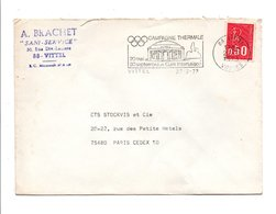 FLAMME CAMPAGNE THERMALE à VITTEL VOSGES - Postmark Collection (Covers)