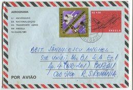 Aerogramme Angola Stationery, 1981 - Avions