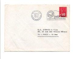 FLAMME BALCON DE NEIGE DE ISOLA 2000 ALPES MARITIMES 1972 - Postmark Collection (Covers)