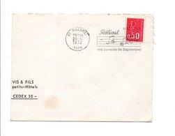 FLAMME FESTIVAL BACH à MAZAMET TARN 1972 - Postmark Collection (Covers)